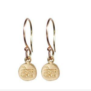 Me&Ro Gold Wisdom Earrings